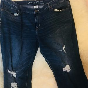 Ava and Viv size 20W skinny jeans